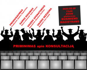 LMTA kviečia studijuoti kino meną, vykdomos konsultacijos